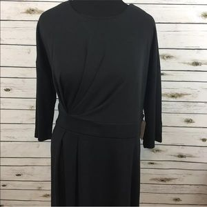Eloquii Dress Black Size 18 Short Sleeve Cinched